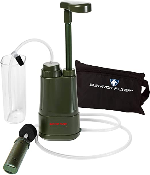 Survivor Filter Pro Portable Water Filter Pump – $65